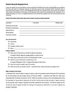 Patient Records Request Form